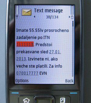 """EVN с безплатна  услуга """"Известяване преди прекъсване за неплатени задължения"""" по sms и имейл"""