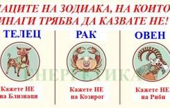 Знаците на Зодиака, на които винаги трябва да казвате НЕ!