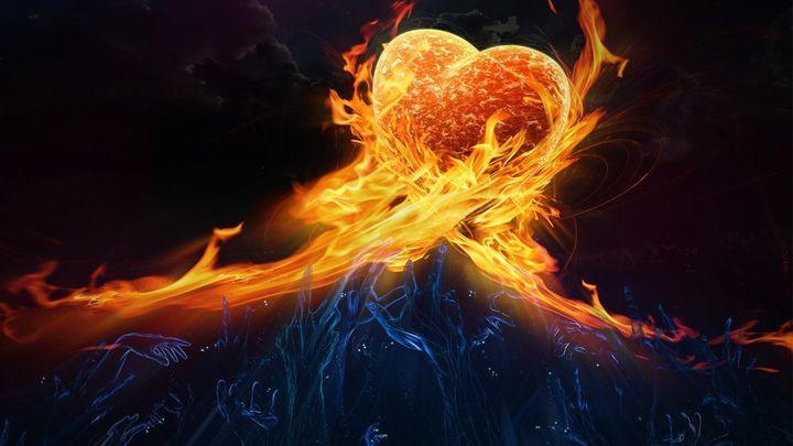 огън в сърцето