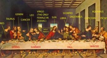 """""""Тайната вечеря"""" на Да Винчи разкрива и звездния път на 12-те знака на зодиака!  (видео)"""