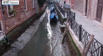 Каналите на Венеция пресъхнаха само за една нощ (видео)